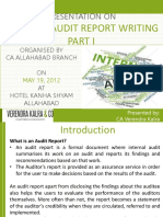 Vkc Website Internal Audit Report Writing Part 1