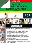 Laporan Hasil Survei ELEKTABILITAS JOKOWI vs Prabowo