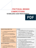 Architectural Design Competitions-Guidelines and Procedures