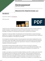 Secteur Des Produits Pesticides Au Maroc - Homme Et Environnement