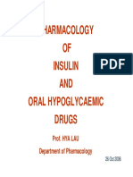 Pharmacology of Insulin and Oral Hypoglycaemic Drugs
