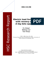 Electric load forecasting with recency effect