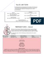ELCA Lectionary Year B 2017 2018