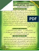 Doa Tarawih Gasek