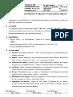 Pgsso 13 - Procedimiento de Identificación de Peligros y Evaluación de Riesgos