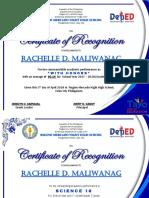 2018 Certificates