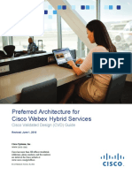 Preferred Architecture for Cisco WebEx Hybrid Services