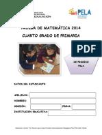 2014 Mat 2da Prueba 4to