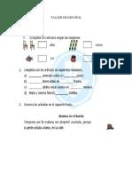 Taller - El Artículo (Grado 4 primaria)