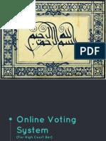Online Voting System Slides Revised