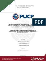 Moyano Neira Remolino La Consulta Previa Del Reglamento de La Ley Forestal y Fauna Silvestre