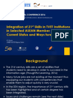 Integrating 21st Skills in TVET Institution in ASEAN