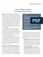_Cybersecurity of Air Force Weapon SystemsRAND_RB9835