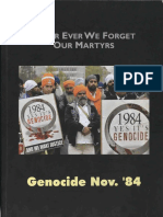 Never Ever We Forget Our Martyrs - Genocide Nov 1984