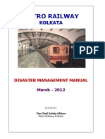 Disaster Management Manual - Kolkata Metro