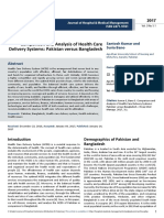 Comparison and Analysis of Health Care Delivery Systems Pakistan Versus Bangladesh