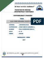 Monografia Comunidades Nativas (Antropologia) (1)