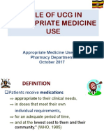 Role of Uganda Clinical Guidelines in Appropriate Medicine Use