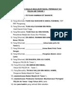 Senarai Tetamu Majlis Maulidur Rasul Air Tawar 1
