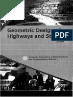 AASHTO - Geometric Design of Highways and Streets 2004