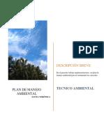 Plan de Manejo Ambiental Santa Veronica..