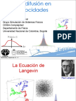 13-La difusión en velocidades y el proceso de Ornstein-Uhlenbeck