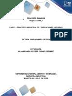 Fase 1 Procesos Industriales y Operaciones