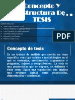 Concepto Y Estructura de TESIS