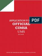 Application Form OFFICIAL Coordinator CIMSA UMS 2017-2018
