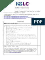 Distillery Checklist