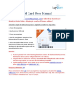 SIM Card User Manual