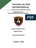 Silabus Orden Publico 2018
