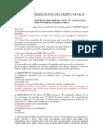 11ª Lista de Exercícios de Direito Civil II