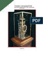 Pouvillon clock complication  Restoration on Line Paper