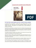 Ana Frank. La Memoria de Un Holocausto