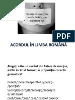 Acordul În Limba Română