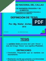 DEFINICIÓN TESIS