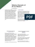 Afición y Música Durante El México Del Siglo XIX
