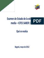 Guia Que Se Evalua - Examen Saber 11 Mayo 2012