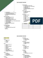 Medical History Checklist