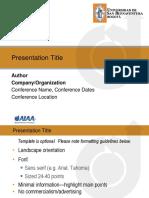AIAA PresentationTemplate