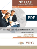 Guia Rapida Para Presentacion de Trabajos en APA