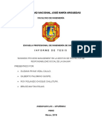 Informe Problematica Tesisi II
