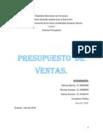 Pronostico y Presupuesto de Ventas. Modulo Ii_ Presupuesto Empresarial...