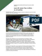 MATERIAL de APOYO Siete Formas de Utilizar Las Redes Sociales en El Salòn