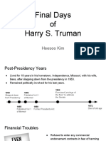 Final Days of Harry S. Truman