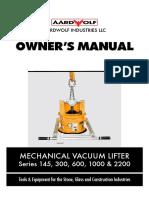 Mechanical Vacuum Lifter_Manual_11 May 2015