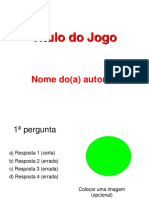 Modelo Jogo Power Point