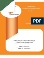 Integración de los Estudiantes Sordos Universitarios en Venezuela