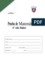 Prueba de Diagnostico Matematica 6basico 2013 (1)